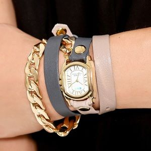 Italian leather wrap watch